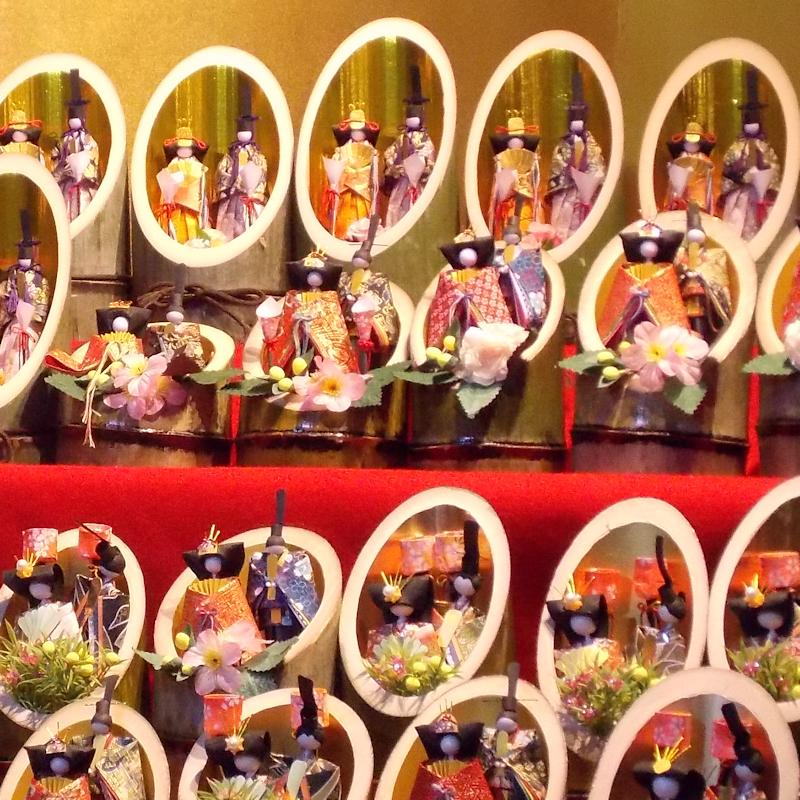 手作り竹雛の展示販売